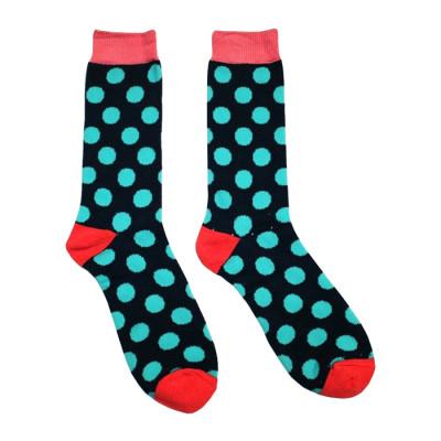 Customized Logo Knee High Cotton Happy Men Custom Socks