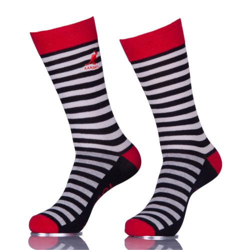 Black And White Striped Fun Mens Dress Ankle Socks