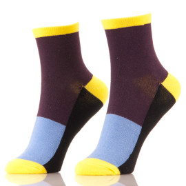 Adult Novelty Yoga Colour Block Socks
