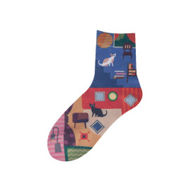 Colorful Image Custom Print dye dye Sublimation Socks