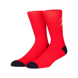 Mens Colorful Basic Sock -Unique Knit Cotton Crew Socks