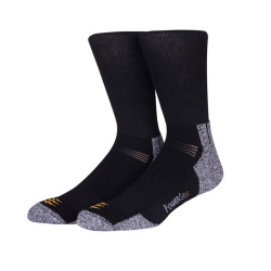 Custom Crew Socks Black Men Cotton Logo Compression Socks