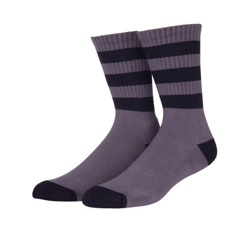 Turn Cuff Sock Soft Striped Sock Casual Cotton Crew Athletic Sport Custom Non-Slip Socks