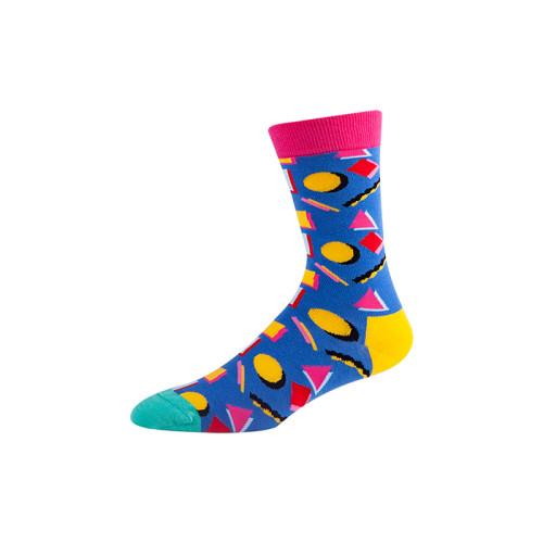 Men's Fun Dress Socks Patterned colorful crew socks