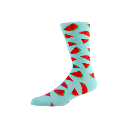 Cotton Fashion Patterned colorful crew socks for men