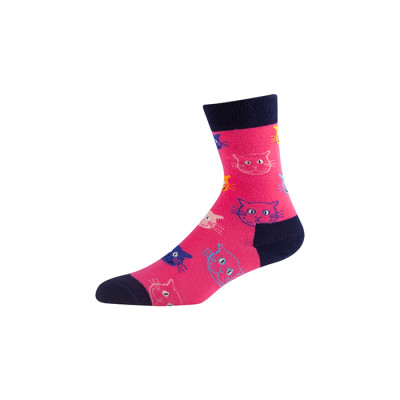Men's and Women's Combed Cotton Colorful Pattern men dress socks cotton colorful crew socks