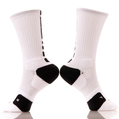 China Custom Made Cotton Sport Logo Crew Men Elite Basketball Socks