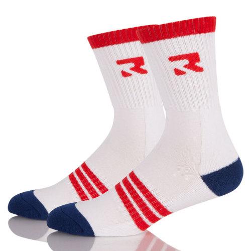 Men Logo Elite Basketball  Athletic Crew Socks Cushioned Breathable