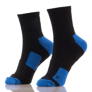 Sexy Basketball Elite Cotton Black Red Heel Men Socks