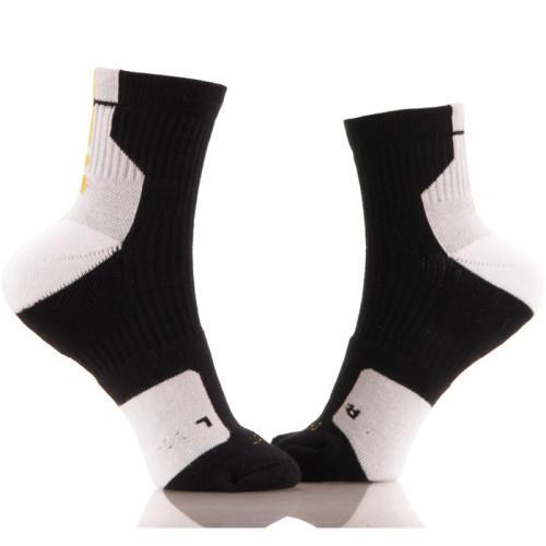 Black With White Bottom Custom Knitted Sublimation Socks