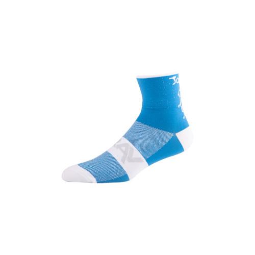 long winter navy blue striped cycling mtb socks