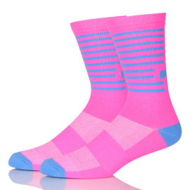 Sublimated Cotton Non Slip Sport Socks Cycling Custom