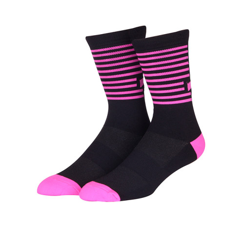 Custom Sublimated Cycling Socks Polyester Sports Riding Socks