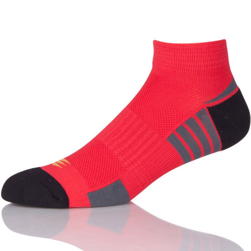Short Jacquard Anti Slip Outdoor Running Towel Cotton Sport Socks Men