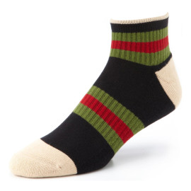 Sports Men's Socks Spring Summer Breathable Striped Patchwork Ankle Socks