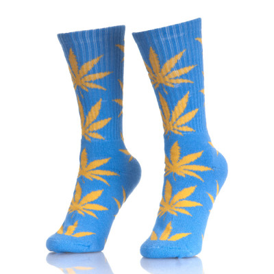 Heather Leaf Street Wear Crew 420 Weed Leaf Socks