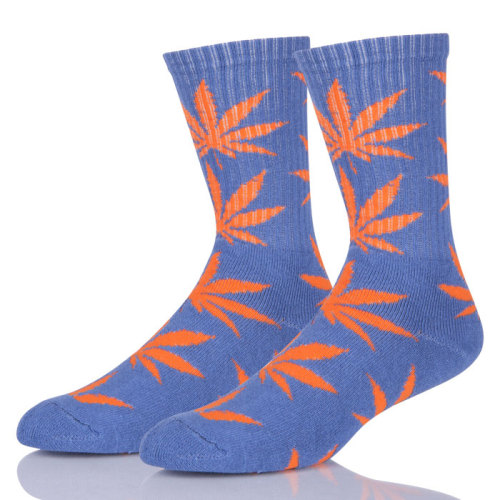 Lady Character Weed Leaf Socks