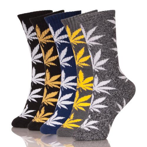 Custom Print Leaf Socks