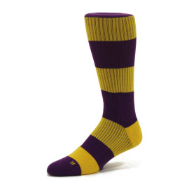 The Latest Casual Men's Socks Color Stripes Socks Cotton Crew