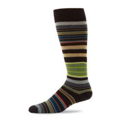 Stripes Socks Men Cotton Long Socks Meias Art Funny Middle Tube Socks