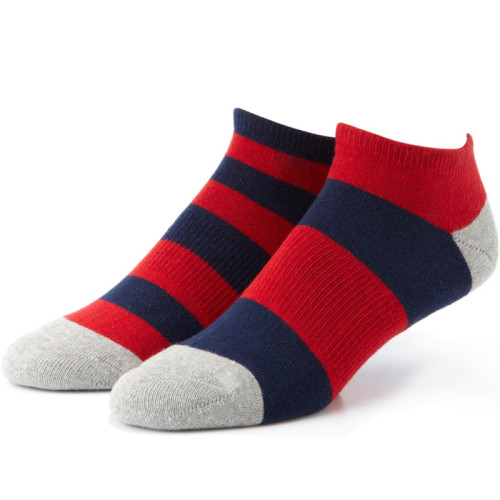 Colorful Men's Cotton Ankle Socks Invisible Low Cut Summer Casual Breathable Short Funny Socks
