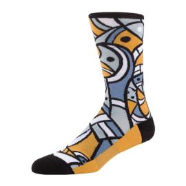 Colorful Men's Funny Combed Cotton Crew Dress Socks Causal Skateboard Novelty Socks