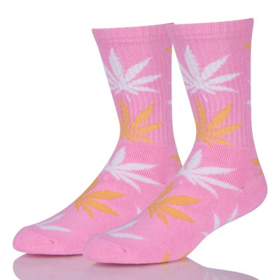 Low MOQ Weed Hemp Cotton Men Sock