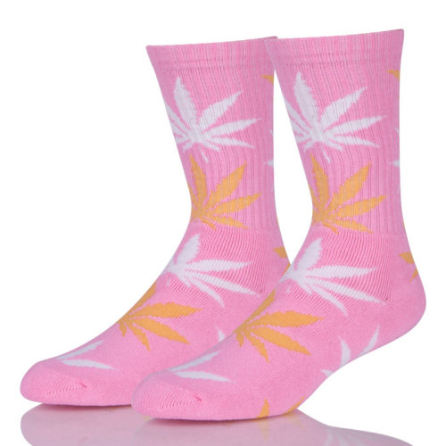 Low MOQ Weed Hemp Cotton Men Sock