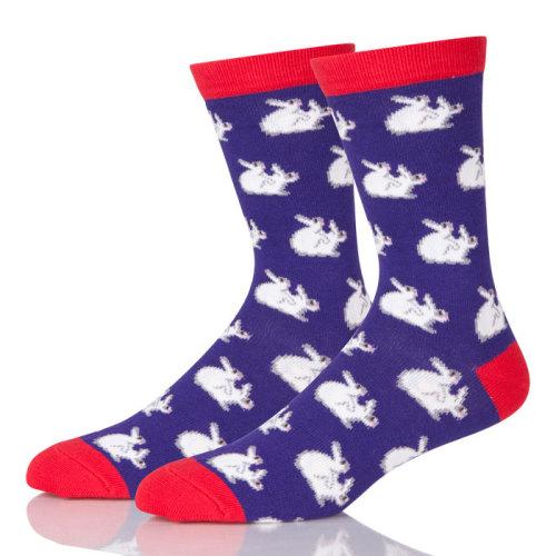 China Socks Custom Men Casual Printed Funny Combed Cotton Crew Sock Wholesale