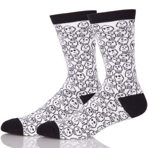 New Design Wholesale Personalized Custom Knit Logo Cool Crazy Socks