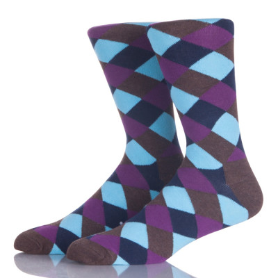 Factory Price Custom Colorful Classy Combed Cotton Men Socks Crazy Fun Dress Socks