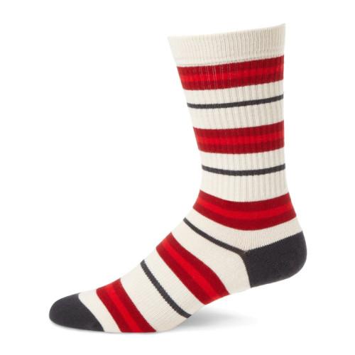 2019 Popular Combed Cotton Crazy Stripe Men Dress Crew Socks