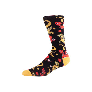 Custom Patterned men dress socks cotton colorful
