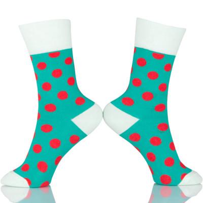 Custom Made Dots Happy Socks Wholesale
