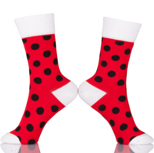 Custom Made Dots Happy Socks Wholesale