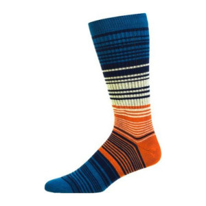 China Suppliers Sustom Mens Black Stripe Cotton Crew Socks