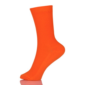 New Design Pure Color Cotton Socks In Tube Korean Green Blue Orange Pink