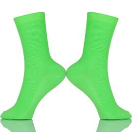 New Design Pure Color Cotton Socks In Tube Korean Green Blue Orange Pink