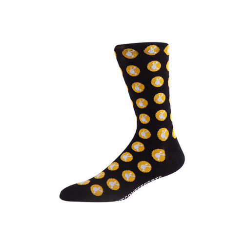 High Quality custom logo dress socks men