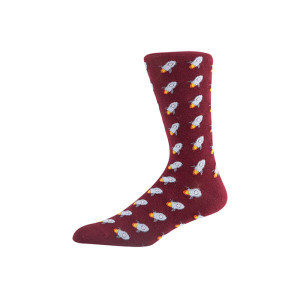 OEM Patterned mens women crew socks custom logo