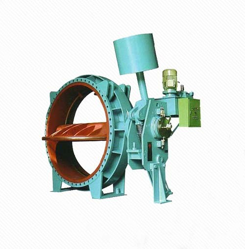Hydropower plant water intake hydraulic counterweight butterfly valve