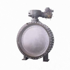 DK941X WCB double flanged steam control vacuum butterfly valve
