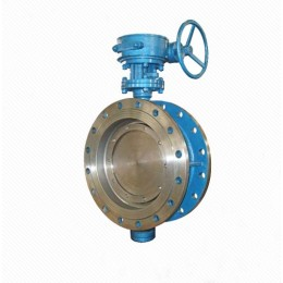 PQD Series Rubber/Metal Seal Sphere cast iron DN2200 double flange central butterfly valve