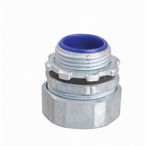 DPJ Electrical Galvanized Steel Flexible Conduit Pipe Connector Fitting