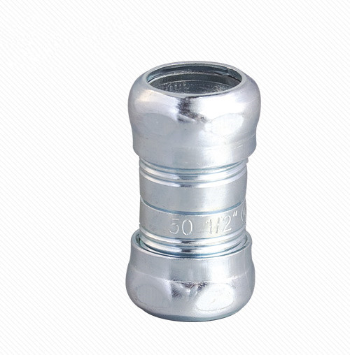 Steel EMT Electrical Conduit Compression Fitting Coupling
