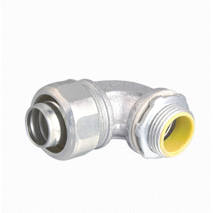90 Angle Liquid Tight Connector Malleable Iron Ground type