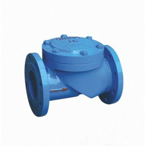 SFCV  DIN3202-F6 DN50 PN16 Ductile iron One Way Rubber Flap Check Valve