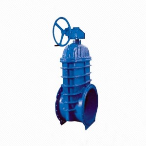 RRHX RVHX Large diameter handwheel gear operated ductile iron flange type resilient gate valve