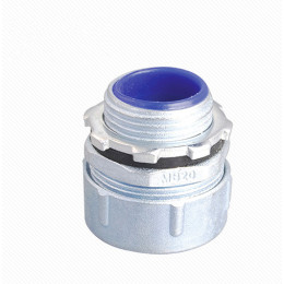 Plum type male flexible conduit connector - Zinc