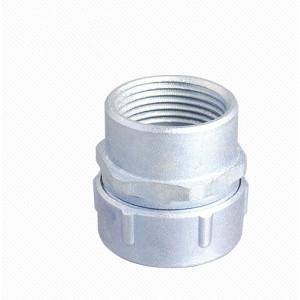 Plum type female flexible conduit connector - Zinc